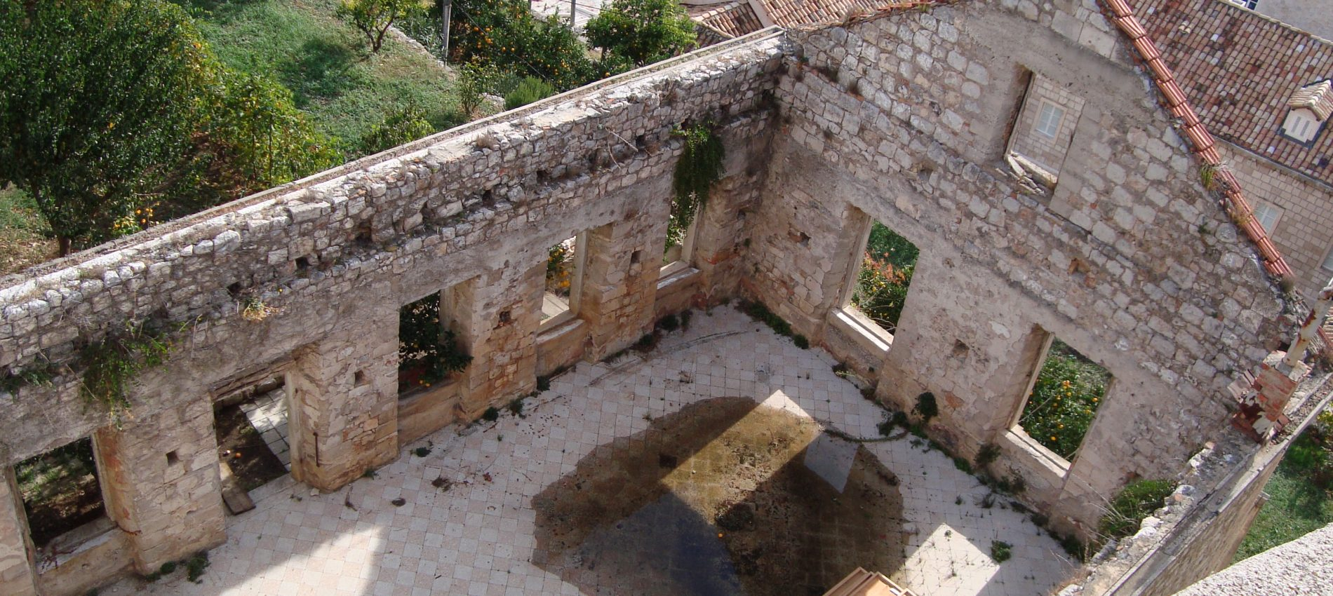 Remnant of war in Dubrovnik